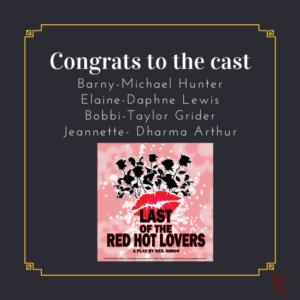 Congrats to the cast RHL