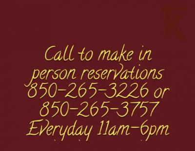Reservation slide
